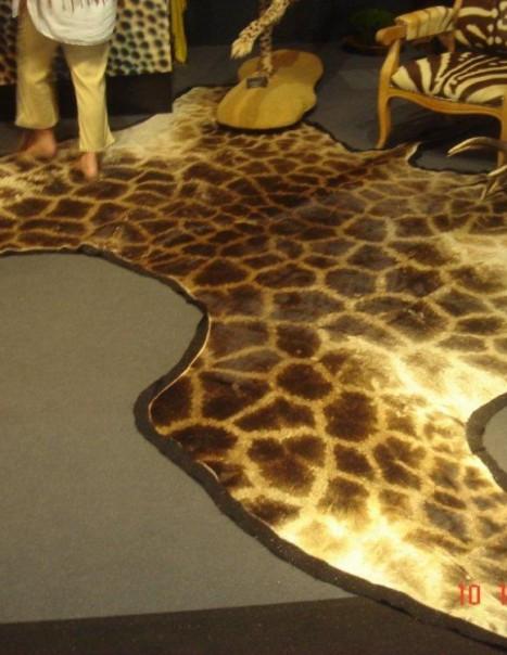 Tapis de girafe noire